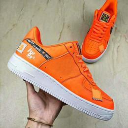 sale retailer df576 23511 Nike Air Force 1 Low Mens running zapatos orange una utilidad blanco negro  acaba de hacerlo el Fuerza Aérea Uno mujeres formadores chaussures Designer  ...
