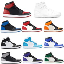 huge selection of 3b04f f19b8 Originals 1 basketball Mens Designer Scarpe da corsa per uomo Casual Scarpe  da ginnastica Donna Sport Sneakers 24 colori con scatola