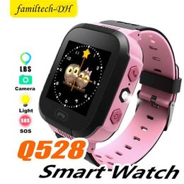pink kids smart watch Australia - Q528 Smart Watch Children Wrist Watch Waterproof Baby Watch With Remote Camera SIM SOS Calls LBS Location Gift For Kids in Retail Box
