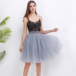 $enCountryForm.capitalKeyWord Australia - Puffty New Layered Tutu Tulle Skirts Womens High Waist Midi Knee Length Chiffon Skirt Jupe Female Tutu Skirts Faldas Saia