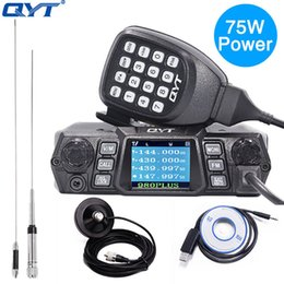 uhf mobile NZ - QYT KT-980 Plus Vehicle Mount Radio VHF 136-174mhz UHF 400-520mhz 75W Dual Band Base Car Truck Mobile Radio Amateur KT980 Plus