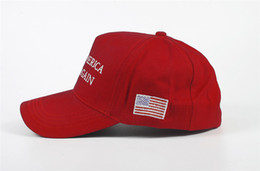 Unisex Suits Australia - Red American Baseball Snapbacks Make America Great Again Fashion Adjustable Unisex Donald Trump Hat Casual BLetter Print reathable Ball Caps