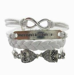 $enCountryForm.capitalKeyWord UK - Multi Layer Infinity Bracelets Owl Bohemia Bracelets Tibetan Silver Woven Bangle Fashion Jewelry Wax Line Men Woman Charm Accessories