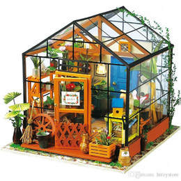$enCountryForm.capitalKeyWord Australia - Doll House Miniature DIY Dollhouse With Furnitures Wooden House Toys For Children Kathy's Flower House Robotime DG104