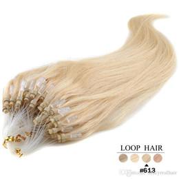$enCountryForm.capitalKeyWord Australia - Elibess Brand Micro Ring Loop Human Hair Extensions 1g s&100g lot Brazilian straight #1 #1B #2 #4 #6 #27 #60 #613 #99J