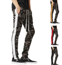 Wholesale men spandex for sale for sale - Group buy Mens Camouflage Sport Jogger Pants Spring Elastic Waist Striped Pencil Athletic Casual Pencil Pants For Sale
