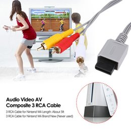 xbox audio Australia - 1.8 meters Gold Plated Audio Video AV Composite 3 RCA Cable for Nintendo for Wii