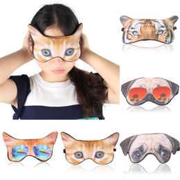 Eye Patches Sale Australia - Hot Sale 3D Cartoon Printing Eye Patches Cute Animal Sleeping Masks SleepEye Mask Eye Care Shade Blindfold Eyes Cover Relaxing