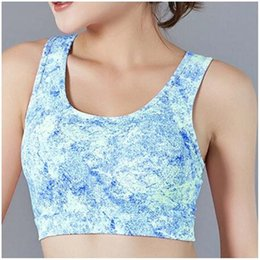 ladies gym tops Australia - ladies sports bra top padded breathable fashion sexy yoga bra outdoor running gym fitness sports vest