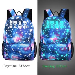 Printed Usbs Australia - Star Letter Print School Outdoor Bag Collection Canvas Anti Theft Backpack With USB Charger For Teen Girls Kids Droship FJA18 #589535