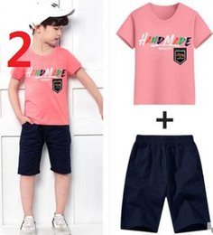 Camping Suit Australia - 2-7 Age New Style Children's Clothing For Boys And Girls Sports Suit Baby Infant Short Sleeve Clothes Kids Set coco