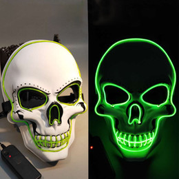 $enCountryForm.capitalKeyWord Australia - Halloween LED Mask Glowing In Dark Skeleton Mask Full Face Halloween Role Dress Up Cosplay Mask for Party