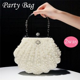 $enCountryForm.capitalKeyWord UK - Shell pearl bag evening bag dress bag banquet female fairy portable diagonal