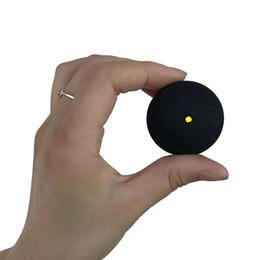 Сквош мяч два-желтые точки низкая скорость спортивные резиновые мячи профессиональный игрок конкуренции сквош