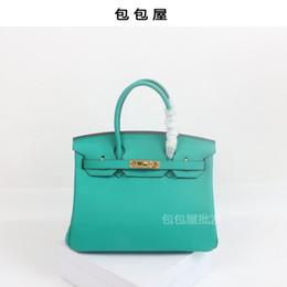 $enCountryForm.capitalKeyWord Australia - Elegant2019 House Bag Package Genuine Leather Woman Baotou Layer Cowhide Handbag Ma'am Oblique Satchel Bale