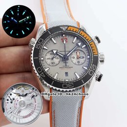 planet ocean watch strap UK - 7 Style Best BF Planet Ocean 600M Chronograph 45.5mm Cal.9900 Automatic Mens Watch 215.92.46.51.99.001 Gray Dial Rubber Strap Gents Watches