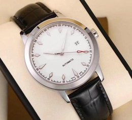 chronometers wrist watches NZ - Top quality Luxury Automatic watch brand R030903 mechanical watches genuine leather belt Chronometer Date Full Steel Crystal Wrist watch