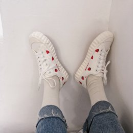 Lace Vulcanized Canvas Shoes Australia - Print Canvas Sneakers Women Casual Shoes Female Sneakers Comfortable Shoes Vulcanized Flats Chaussure Lace-up Ladies Trainers 3A 68