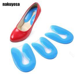 $enCountryForm.capitalKeyWord Australia - Foot pain 100% Silicone Gel U-Shape Plantar Fasciitis Heel Protector Heel Spur Cushion Pad Shoe Inserts Insole for Men and Women