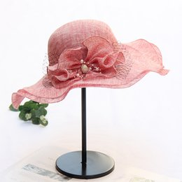 flower garden edging NZ - New Summer wave edge cotton beach hat lady girl flower sun hat adjustable wide brim cap