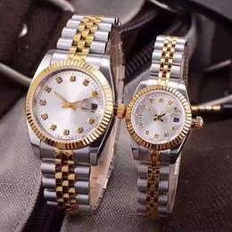 Vente en gros HOT De Luxe Montres Couples Style Classique Automatique Mouvement Mécanique De La Mode Hommes Hommes Femmes Womens Montre Montres Montre-Bracelet