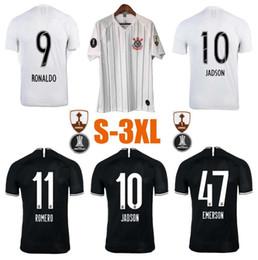 Jersey brazil thai online shopping - New Thai quality S XL Brazil Corinthian Paulista Soccer Jersey CLAYTON JADSON ROMERO PABLO M GABRIEL Football Shirt