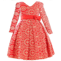 Fashion Short Gown Dresses UK - Spring Autumn style children's clothes 2018 new dress Fashion Long sleeves Bud silk restoring ancient princess party Girl