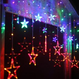 glow party decorations Australia - Eco Friendly 2M 138-Leds Romantic Star Led String Fairy Lights Curtain Ice Lamp Strip Holiday Wedding Decoration Glow Party Supplies