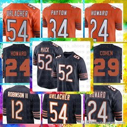 Top Sale 10 Mitchell Trubisky Chicago Bears Jersey 54 Brian Urlacher 34  Walter Payton 58 Roquan Smith 17 Anthony Miller 24 Howard 29 Cohen d12694828