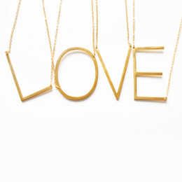 Pendant Letters Gold 18k Australia - FashionStainless Steel A-Z 26 pcs English Alphabet Initial Necklace Silver Gold Plated Capital Letter pendant Jewelry for Women free combin