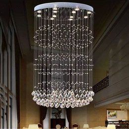 crystal living Australia - Modern Raindrop LED Crystal Chandeliers Lighting Ceiling Chandelier Lamp for Living Room Hotel Villa Home Decoration