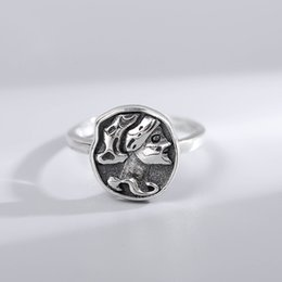 $enCountryForm.capitalKeyWord Australia - Elegant Vintage Figure Badge 925 Sterling Silver Stacking Ring JZR316
