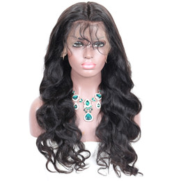 Ladies Long curLy hair online shopping - Price Brazilian Virgin Curly Body Wave full lace human hair wigs Swiss Lace Front Wigs density no tangle