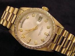 $enCountryForm.capitalKeyWord NZ - Men Gold Diamond Bezel Watches Day Date Stainless Steel Watch Face Mens Swiss Automatic Mechanical Wristwatches
