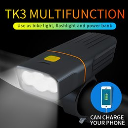 Chinese  super bright Bike waterproof light flashlight bicycle lamp Outdoors riding light cycling accessories equipment 5200mAh power bank manufacturers