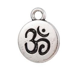 Yoga Charms Australia - lemegeton Fishhook Wholesale Retail Fashion New Design30pcs Religious Meditation Hindu Sanskrit Om Yoga Charm DIY Jewelry