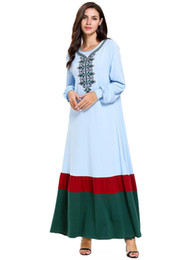 $enCountryForm.capitalKeyWord Australia - 7697 Blue Abaya Dubai Moroccan Women Embroidery Muslim Maxi Dress Femme Turkey Turkish Bangladesh Kaftan Plus Size Islamic Clothing