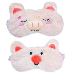 5716ffea51c Eye Cartoon Sleep Mask Australia - Women Girls Sweet Pink Color Plush Sleeping  Eye Mask Cute
