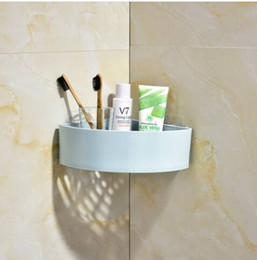 plastic shipping corners NZ - Sakes Free Shipping Wholesales Corner Bathroom Shelf Adhesive Corner Shower Caddy Plastic Shower Shelf