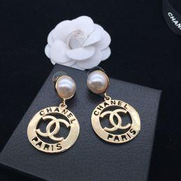 46a8c038a4523 Elegant Women Letters Design Earrings Double Layers Crystal Pearl Ear Studs  Earrings Women Girl Wedding Jewelry Accessories wholesale