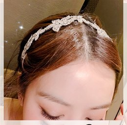 Fabric Flowers Hair Clip Australia - Super Fairy Full Drill Size Flower Hair Hoop Hairpin with a Simple Elegant Edge Clip Female Adult Hair Ornaments