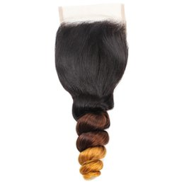 long 18 inch brazilian hair UK - YAHLIGS Real hair lace block 4*4 hair block Ombre body wave hair wholesale J41