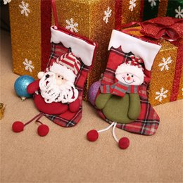 Christmas Decor Gifts Australia - Gift For New Year 2017 Christmas Decor Party Decorations Santa Claus Christmas stocking Candy Socks Gifts Bag For Home