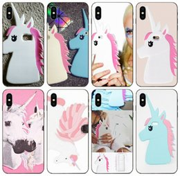 brown black pink iphone Australia - [TongTrade] Pink Unicorn Silicone Case For Apple iPhone 11 Pro Max X Xs 8 7 6 5 Galaxy J2 J3 J5 J7 Honor 6 6A 6C HTC Desire 630 Custom Case