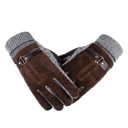 $enCountryForm.capitalKeyWord NZ - Winter Men Leather Gloves Cashmere Thick Warm Soft Mittens Full Finger Tactical Glove Thermal Male Workout Ski Driving Gloves S1025