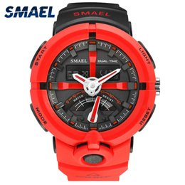 $enCountryForm.capitalKeyWord Australia - SMAEL Cool LED Watch Men Analog Alarm Shock led Digital Wristwatch for Male relogio masculino Sport Running Watch