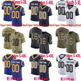 7714e2621 Mens Women Youth Los Angeles Aaron Donald Gurley II Jared Goff Eric  Dickerson Rams Vapor Elite Camo Salute to Service Limited Jersey