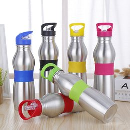 $enCountryForm.capitalKeyWord Australia - Stainless Steel Gourd Shaped Water Bottle 600ML Outdoor Sports Portable Water Bottle with Suction Nozzle Hang Ring