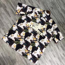 Eagles Tee Shirts Australia - 19ss Rhude Eagle Short Sleeve Hawaiian Flower Shirt Men Women Summer Cool Beach T-shirt Vintage Casual Fashion Holiday Tee HFLSCS030