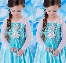 sequin stage clothes Australia - Baby Girls Princess Dress Sequins Diamond Cosplay Costume Performance Queen Gown Halloween Party Stage Kids Dresses Clothes new GGA2782